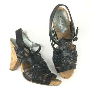 Guess by Marciano Size 8 M Sandal Heels Black